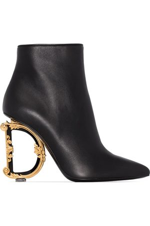 Dolce & Gabbana 105mm Baraque heel ankle boots
