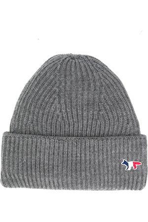 Maison Kitsuné Fox patch knitted hat