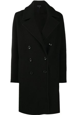 Emporio Armani Boxy fit knitted double-breasted coat