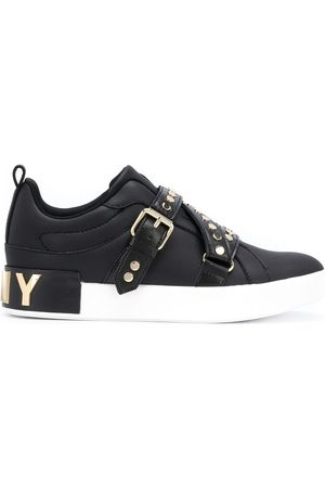 DKNY Studz buckled low-top sneakers
