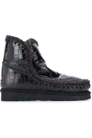Mou Crocodile-embossed snow boots