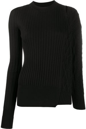 SACAI Patchwork wool jumper