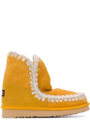 Mou Crochet trim snow boots