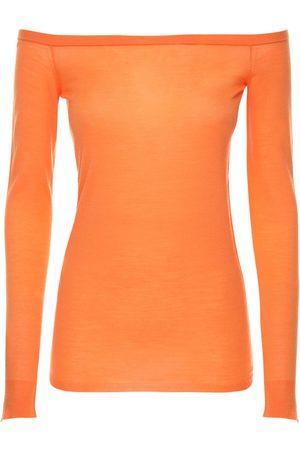 Stella McCartney Off-the-shoulder Wool Knit Top