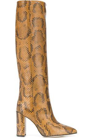PARIS TEXAS Snakeskin print boots