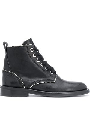 Zadig & Voltaire Studded lace-up leather boots