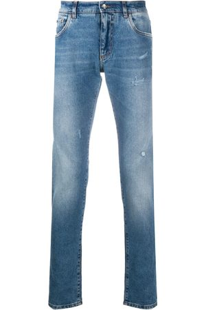Dolce & Gabbana Stonewashed-effect slim-fit jeans
