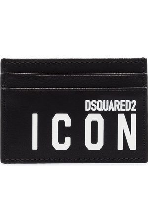 Dsquared2 Men Wallets - Icon logo-print leather card holder