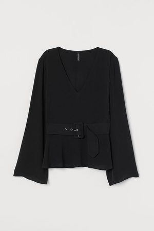 H&M Belted blouse