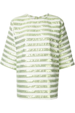 Bambah Short-sleeved striped square top