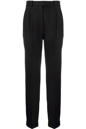 Victoria Beckham Pleated front tapered trousers