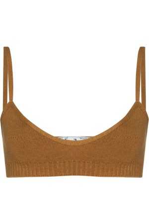 OFF-WHITE Fine-knit strappy bralette