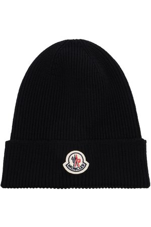 Moncler Logo-patch knit beanie