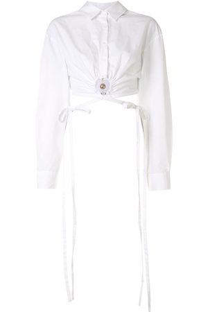 CHRISTOPHER ESBER Women Long Sleeve - Pierced cropped shirt
