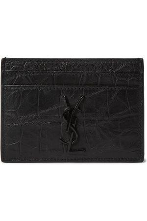 adidas Logo-Appliquéd Croc-Effect Leather Wallet