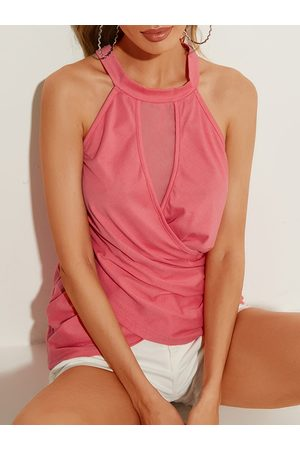 YOINS Crossed Front Design Halter Sleeveless Cami
