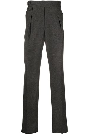 Alexander McQueen Men Formal Trousers - Straight-leg wool trousers