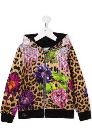 Philipp Plein Printed cotton zip hoodie