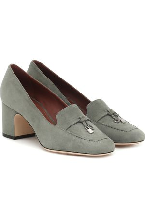 Loro Piana Embellished suede loafers
