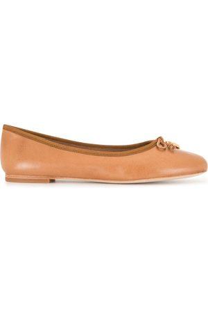 Tory Burch Logo charm ballerina shoes