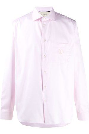 Gucci Embroidered logo buttoned shirt