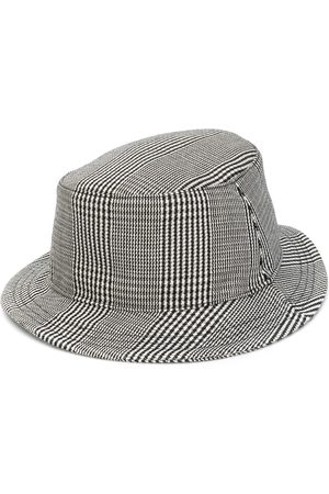 Thom Browne Men Hats - Prince of Wales check bucket hat