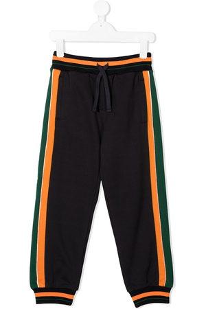 Dolce & Gabbana Boys Sports Trousers - Logo embellished cotton sweatpants