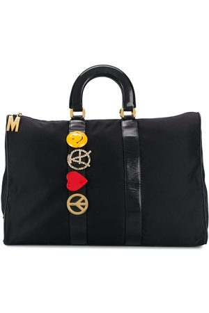 Moschino 1990s brooch-embellished tote