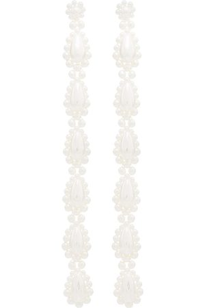 Simone Rocha Pearl drop long earrings