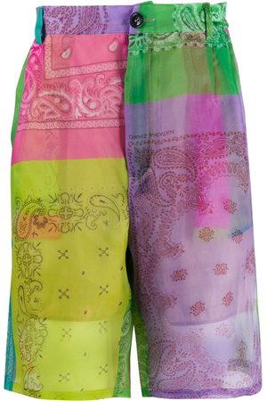 DUOltd Bandana print deck shorts