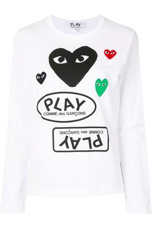 Comme des Garçons Women Long Sleeve - Logo print long sleeve t-shirt