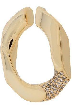 númbering Women Earrings - Pavé chain-unit earcuff