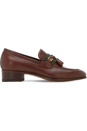 Gucci 30mm Paride Leather Loafers