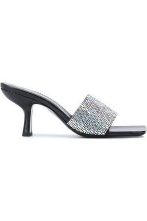 By Far Crystal-embellished sandals
