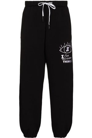 DUOltd Embroidered track pants