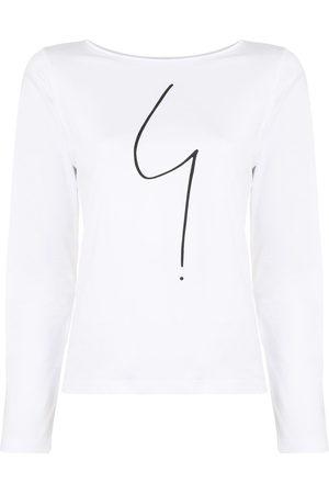 AGNÈS B. Graphic print long sleeve cotton T-shirt
