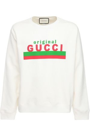 Gucci Original Print Cotton Sweatshirt