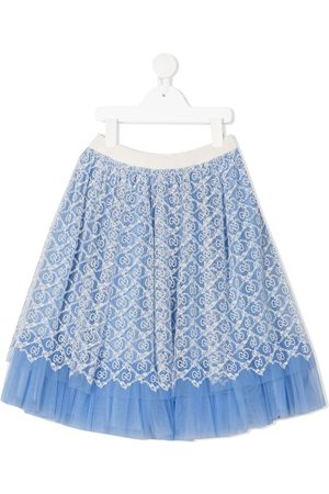 Gucci GG embroidered tulle skirt