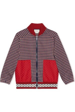 Gucci Houndstooth bomber jacket