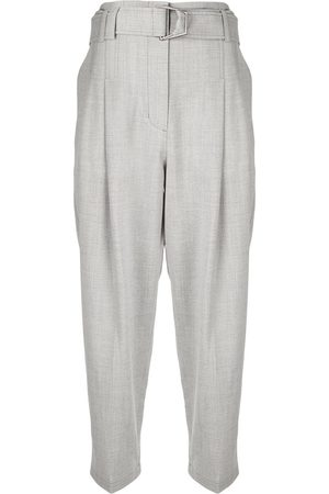 3.1 Phillip Lim WOOL CHAMBRAY BELTED UTILITY PANT