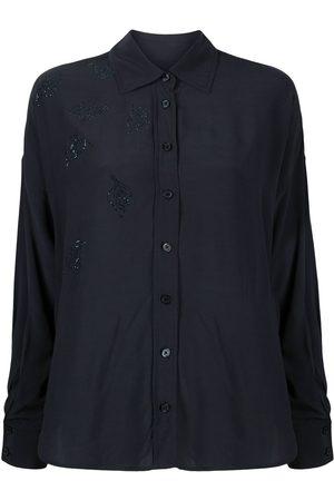 Zadig & Voltaire Women Long Sleeve - Tamara embellished leaf shirt