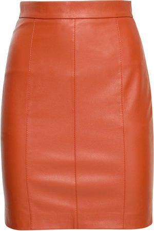 Liya Women Pencil Skirts - Faux Leather Pencil Skirt