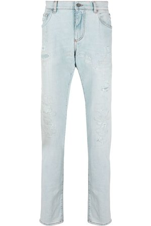 Dolce & Gabbana Ripped straight-leg jeans