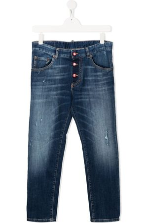 Dsquared2 Kids Straight - TEEN faded straight-leg jeans