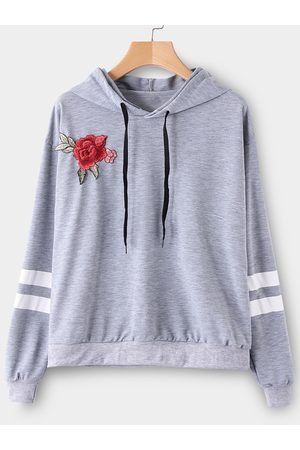 YOINS Embroidered Pullover Sports Hoodies