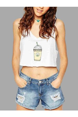 YOINS Cartoon Printed Crop Top