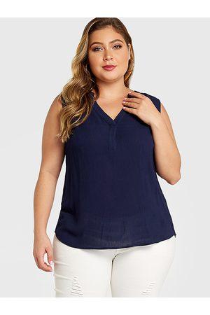 YOINS Plus Size V-neck Sleeveless Tank Top