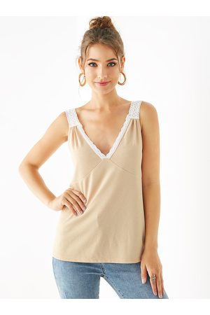 YOINS Backless Design V-neck Sleeveless Sleeveless Top