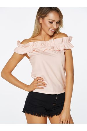 YOINS Off The Shoulder Short Sleeves T-shirts