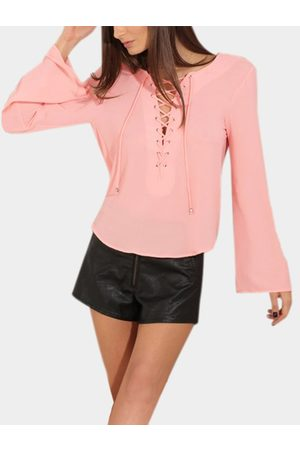 YOINS Women Tops - Sexy Lace-up Backless Top